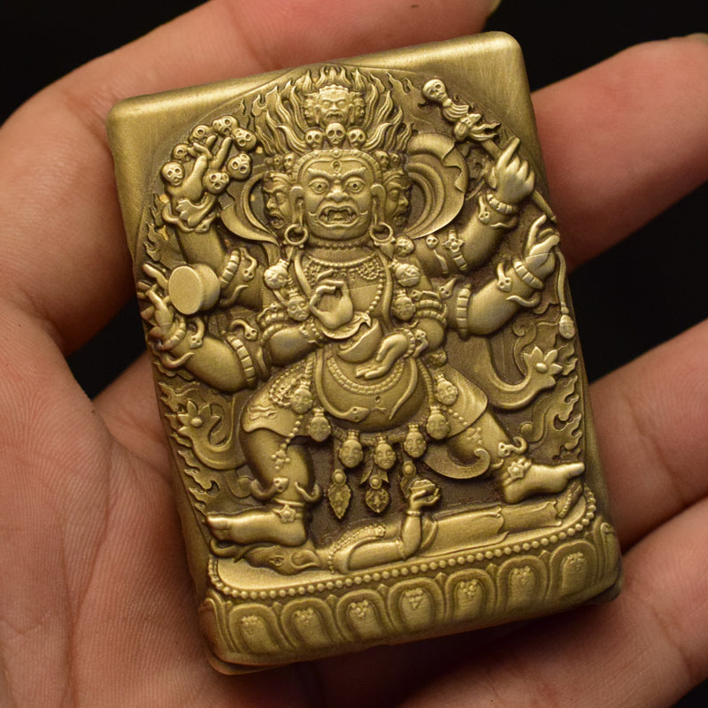 Buddha Skull Windproof Custom Zippo Lighter Case