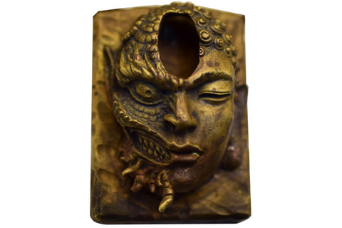 Mahākāla God of Fortune Wooden Pendant