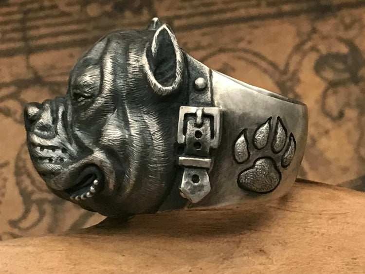 Good Faith Bull Dog Ring - Holy Buyble