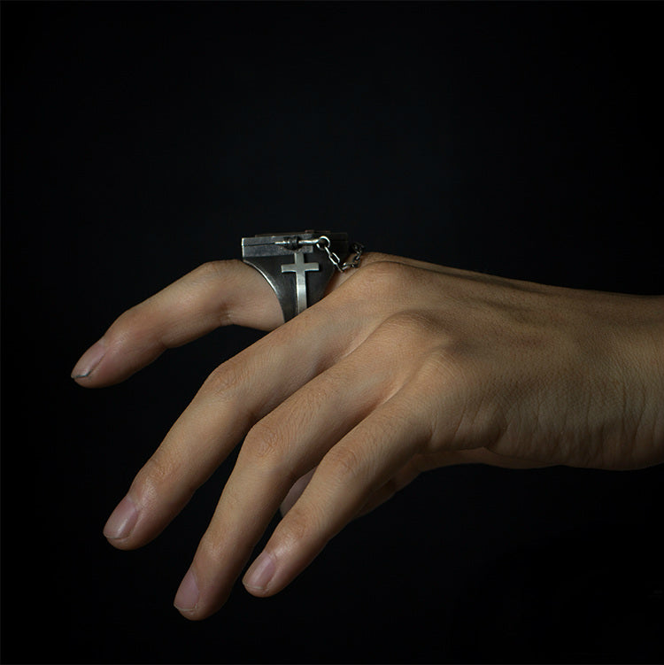 Coffin Couple Skeleton Ring - Holy Buyble