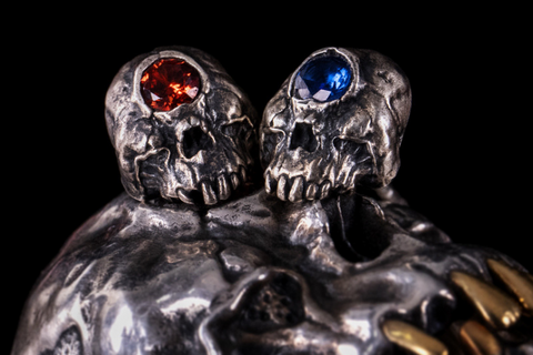 Horned Clown Skull Pendant