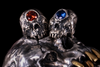 Crystal Eye Cyclops Skull Earring - Holy Buyble