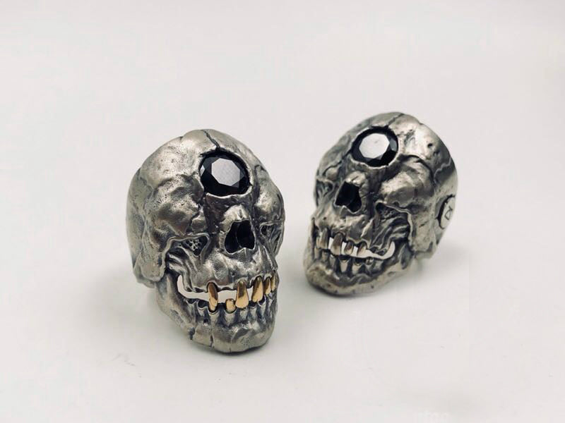 Crystal Eye Cyclops Skull Ring - Holy Buyble