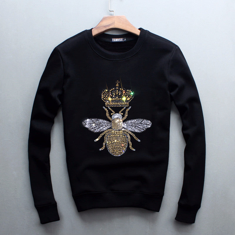 03f1692fbda Bling Bling Crystal Glitter Queen Bee Unisex Sweatshirt Holy Buyble