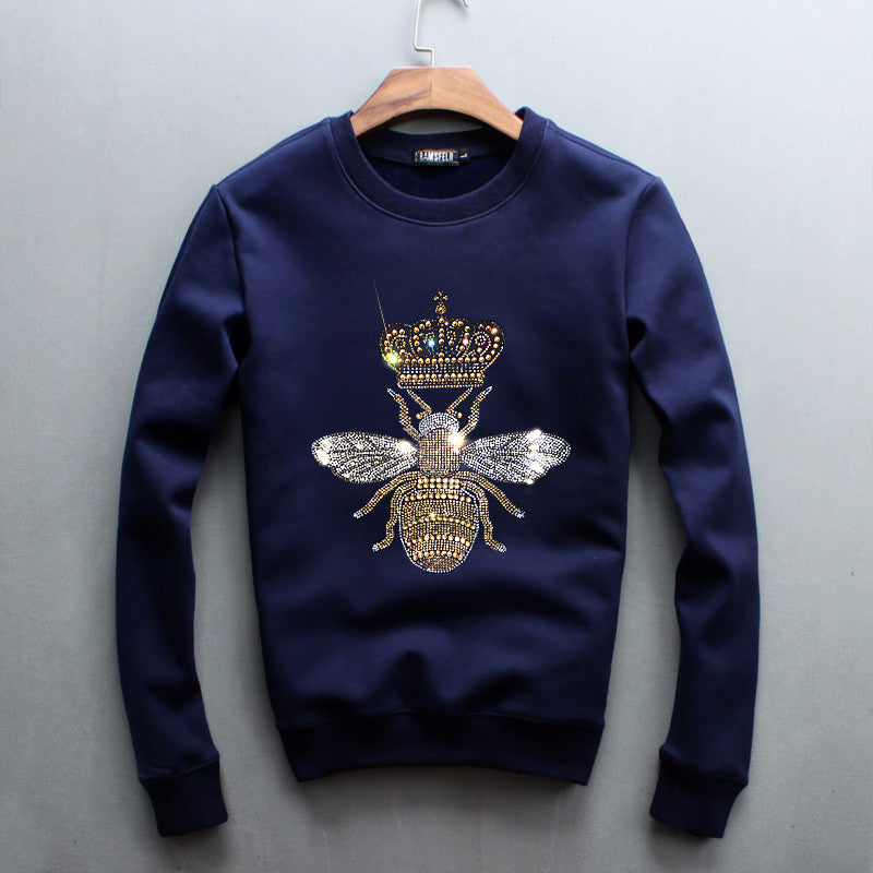 Bling Bling Crystal Glitter Queen Bee Unisex Sweatshirt - Holy Buyble