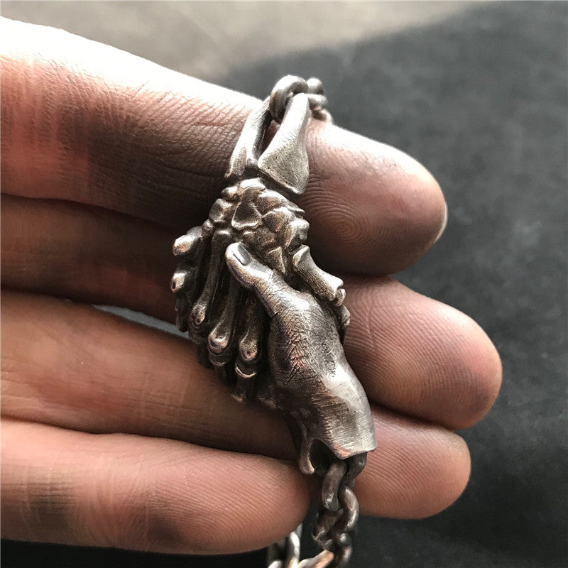 Devil's Handshake Skull Necklace
