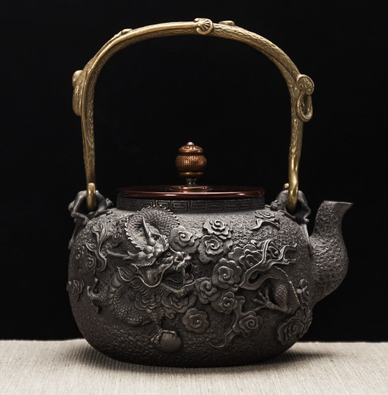 🐉 Relief Sculpture Floating Dragon Teapot Kettle 🐉