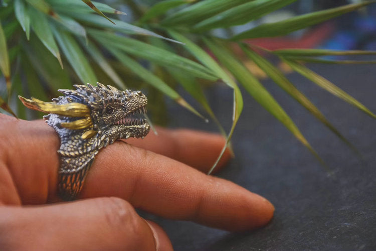 Dragon Tribal Ring - Holy Buyble