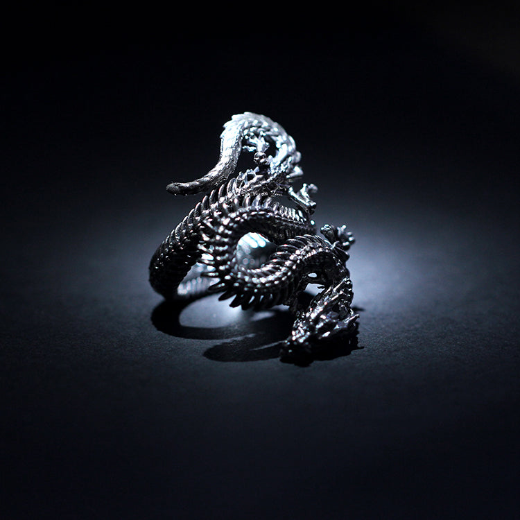 Dragon Skeleton Ring - Holy Buyble