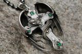 Winged Dragon Skull Cross Pendant - Holy Buyble