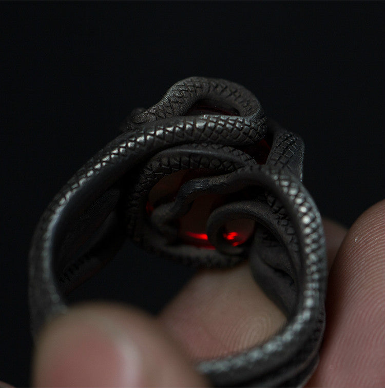 Evil Eye Snake Ring - Holy Buyble
