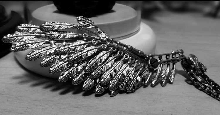 Realistic Silver Wing Necklace - Holy Buyble