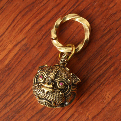 Foo Dog Lion Tiger Key Ring Key Chain Pendant