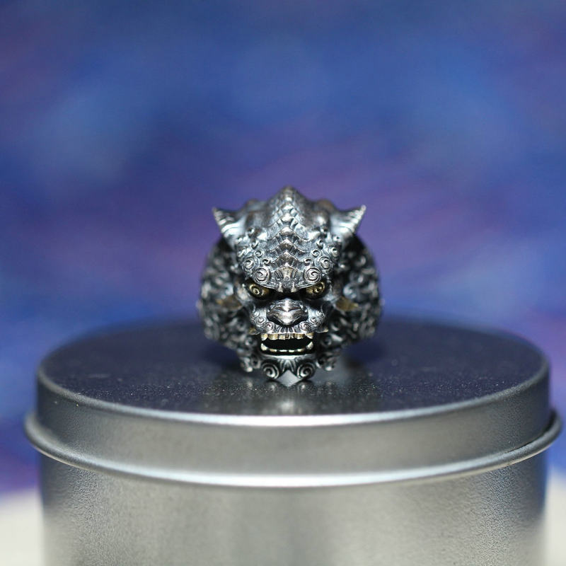 Guardian of Good Fortune Foo Dog Lion Ring - Holy Buyble