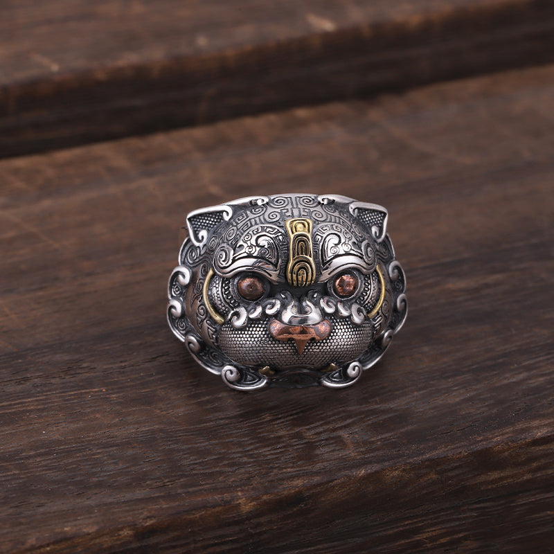 Foo Dog Lion Ring