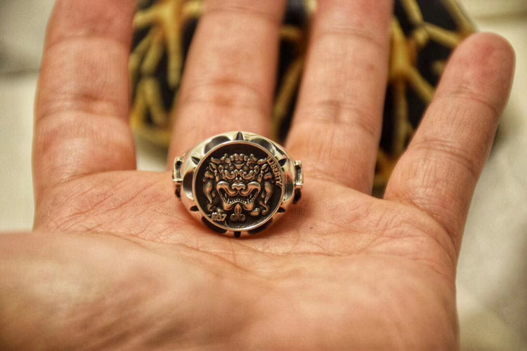 Guardian of Good Fortune Foo Dog Ring - Holy Buyble