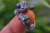 Blue Eyed Smiling Baby Gecko Ring - Holy Buyble