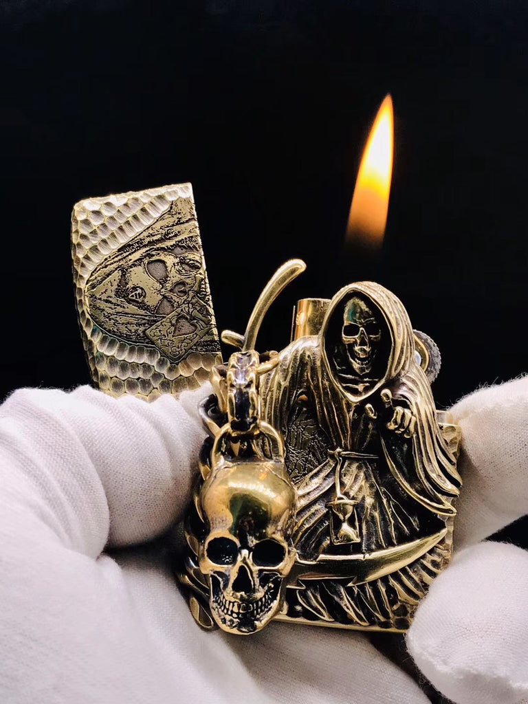 Grim Reaper Skull Lighter Case