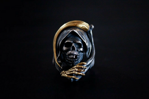 Twin Scorpion Skull Ring