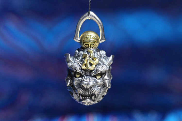 Guardian Lion Foo Dog Car Pendant / Key Ring - Holy Buyble