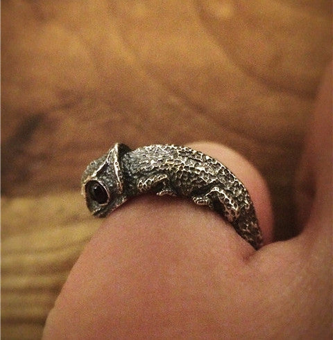 Chameleon Silver Ring - Holy Buyble