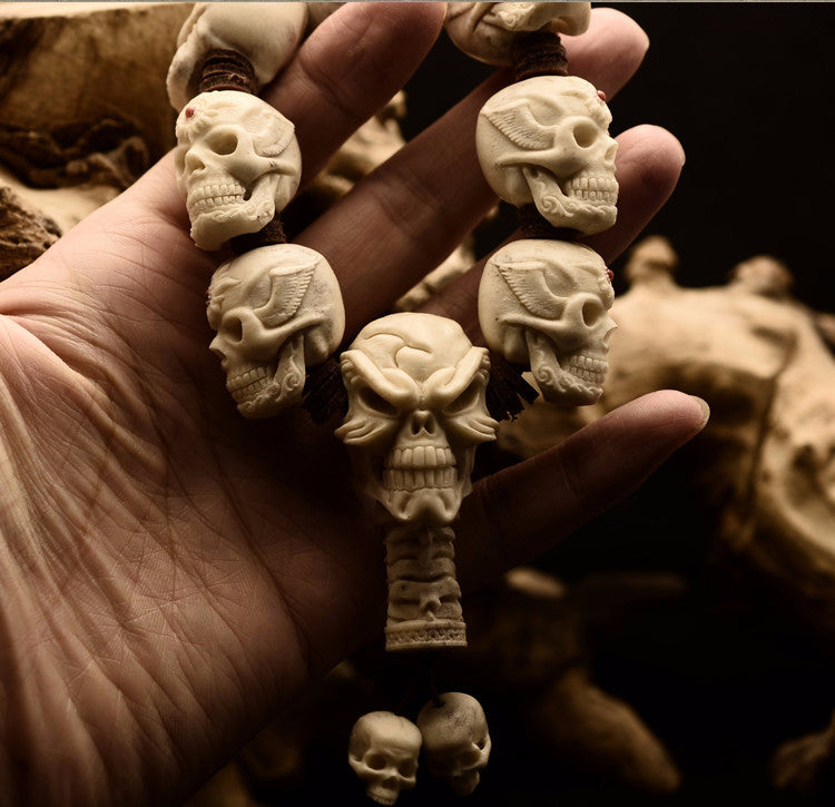 Deer Antler Red Dot Skulls Bracelet - Holy Buyble