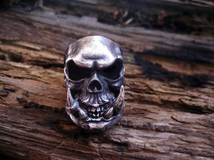 Demon Beast Skull Ring - Holy Buyble