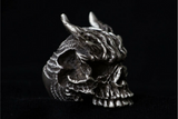Made to Order Horned Demon Skull Ring - Holy Buyble