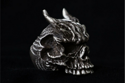 Death God Dragon Sickle Silver Pendant