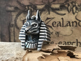 Egyptian God Anubis Silver Ring - Holy Buyble