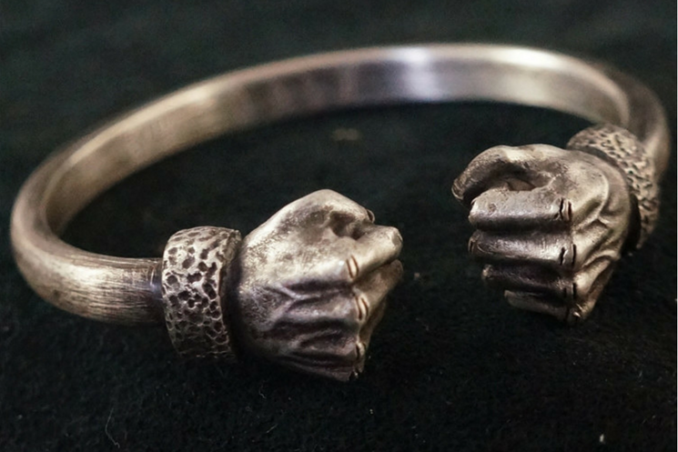 Power Fist Silver Bracelet - Holy Buyble