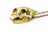 Leopard Skull Brass Pendant Necklace - Holy Buyble