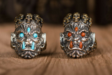 Handcrafted MAHĀKĀLA God of Fortune Silver Ring