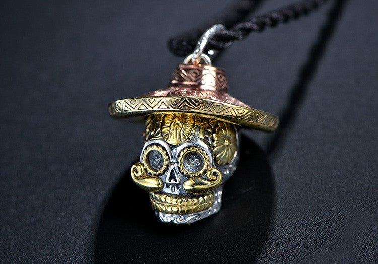 Mexican Sugar Skull Pendant - Holy Buyble