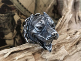 Made to Order Pit Bull Silver Ring - Holy Buyble