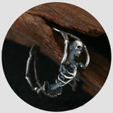 Handcrafted Silver Skeleton Ring - Holy Buyble