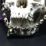 Skull Chain Silver & Brass Necklace - Holy Buyble