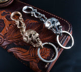 Handcrafted Skull & Snake Key Ring - Holy Buyble