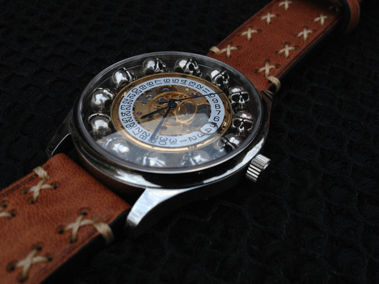Handcrafted Steampunk Skull Automatic Watch - Holy Buyble