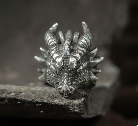 Little Monster Horned Dragon Ring