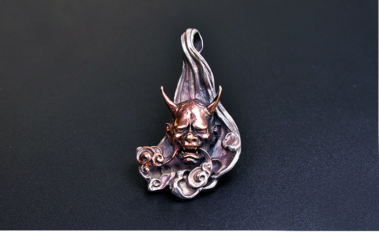 Japanese Oni Oriental Flow Pendant - Holy Buyble