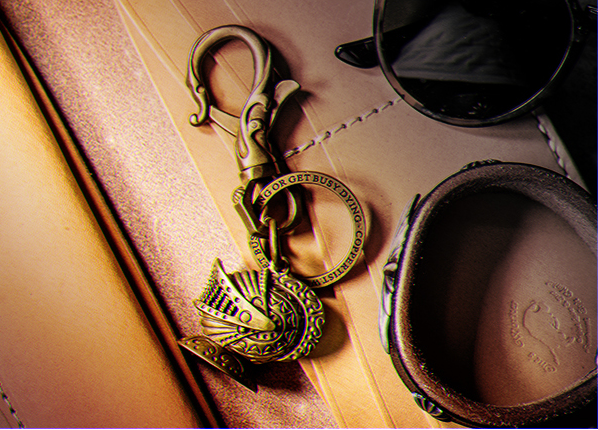 Knight Helmet Key Ring - Holy Buyble