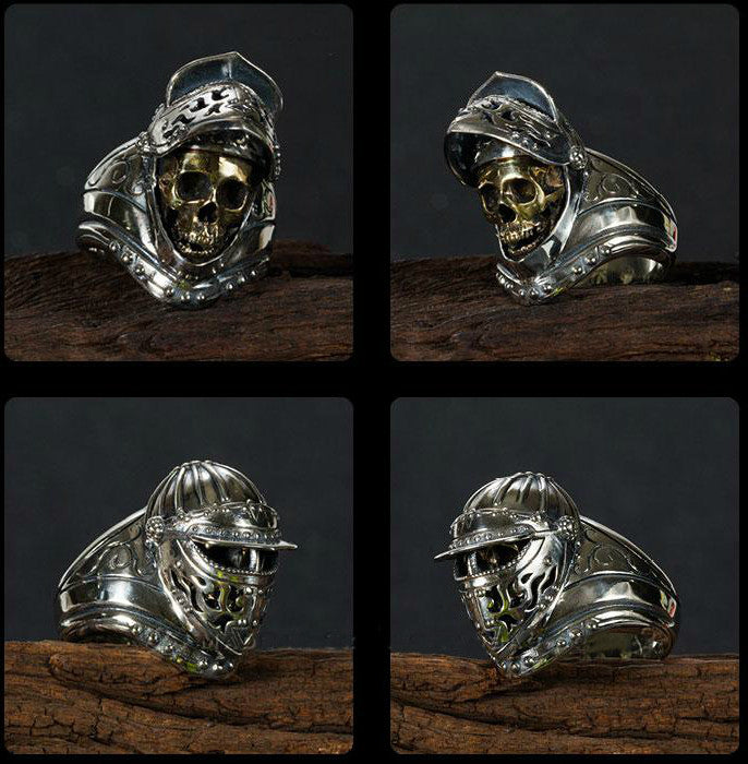 Masked Ghost Knight Skull Ring - Holy Buyble