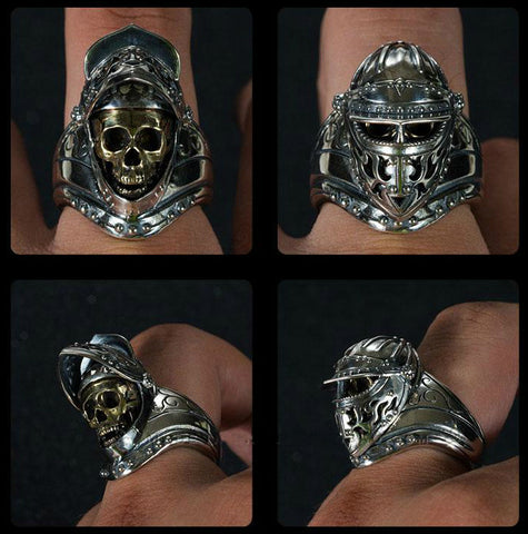 Mandala Mask Mummy Ring