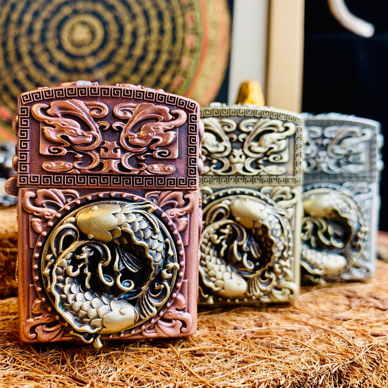 Koi Fish Custom Zippo Lighter