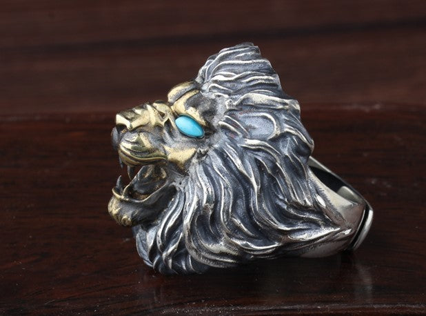 Royal Blue Lion Ring - Holy Buyble