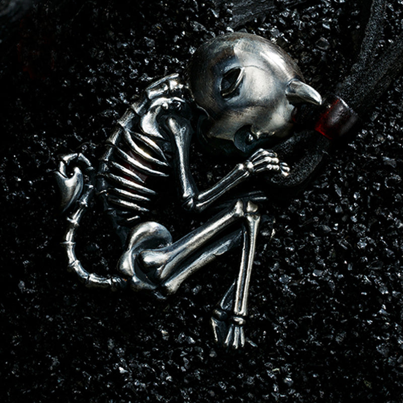 😈 Little Devil Skeleton Necklace 😈 - Holy Buyble