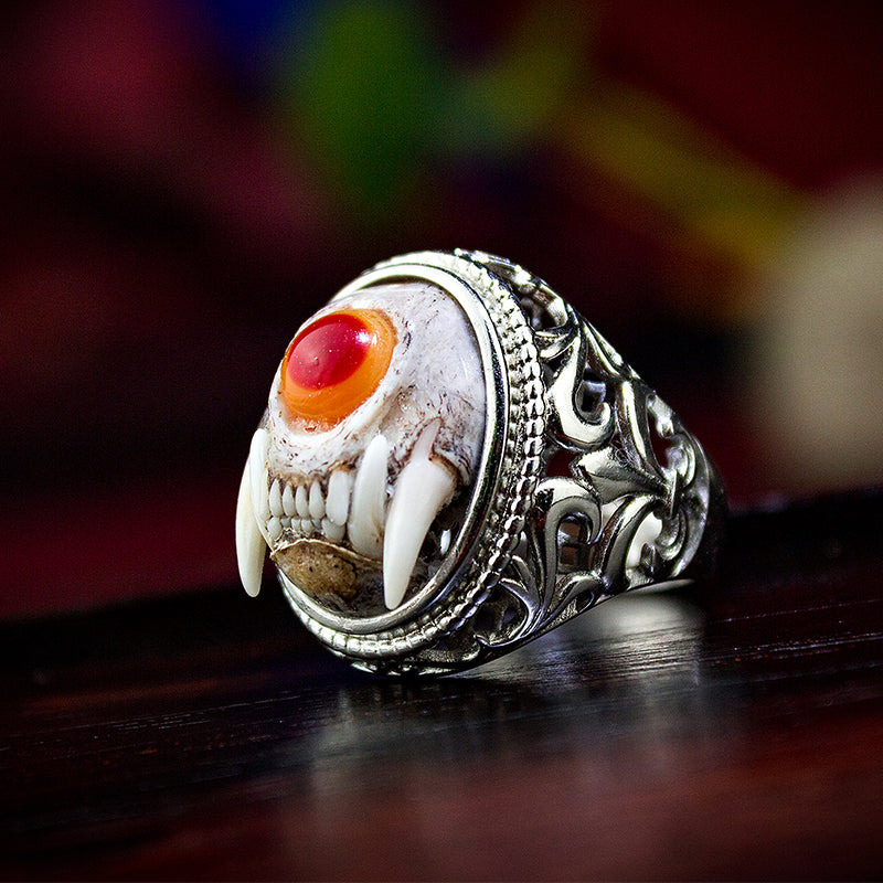 Little Monster Cyclops Beast Skull Ring - Holy Buyble