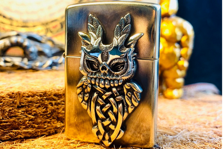 Skull Masked Owl Custom Lighter Case - Holy Buyble