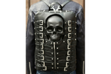 Mummy Skull Leather Buckled Biker Backpack - Holy Buyble